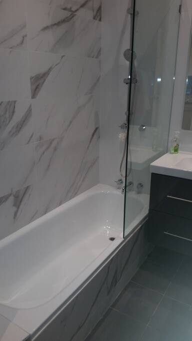 Two bathrooms and shower rooms renovated