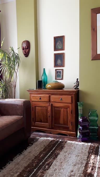 Eclectic mix of decor from India and South East Asia