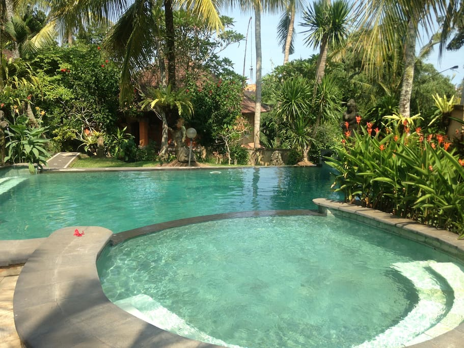 Two story house quiet central ubud pool houses for for 2 story house with pool