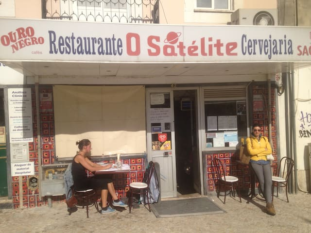 One of the popular Graça restaurants (500m away). Don't get scared away by the unattractive facade, it serves delicious food!