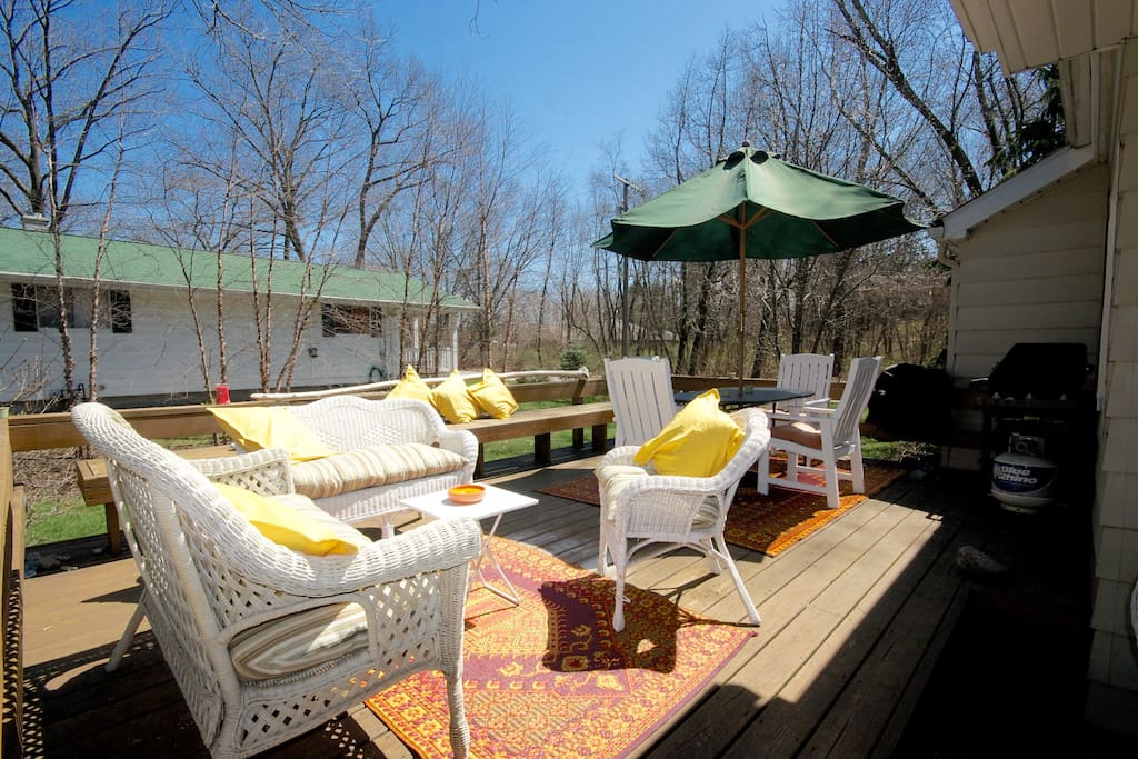 Relax in the sun on the deck!