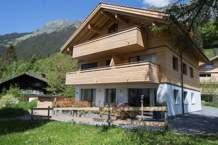 New apartment in Wengen. Wengen is car free!