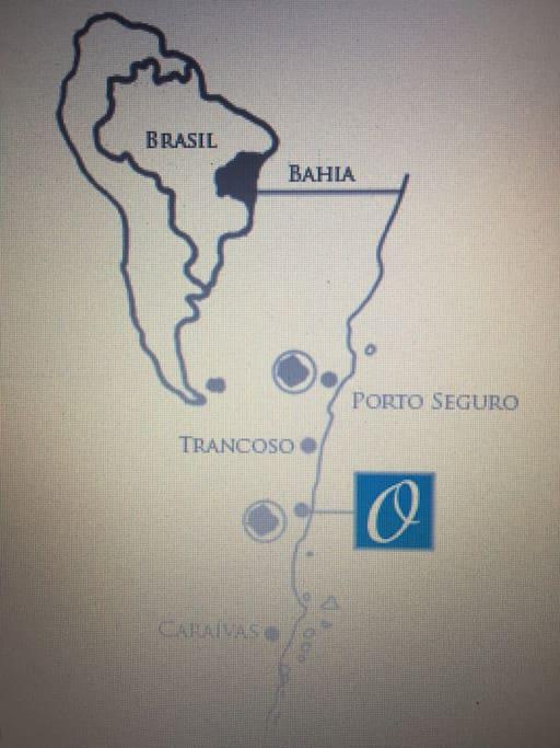Mapa de localização do condominio