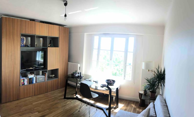 Sunny 1 Bedroom 20 Mins from Center of Paris