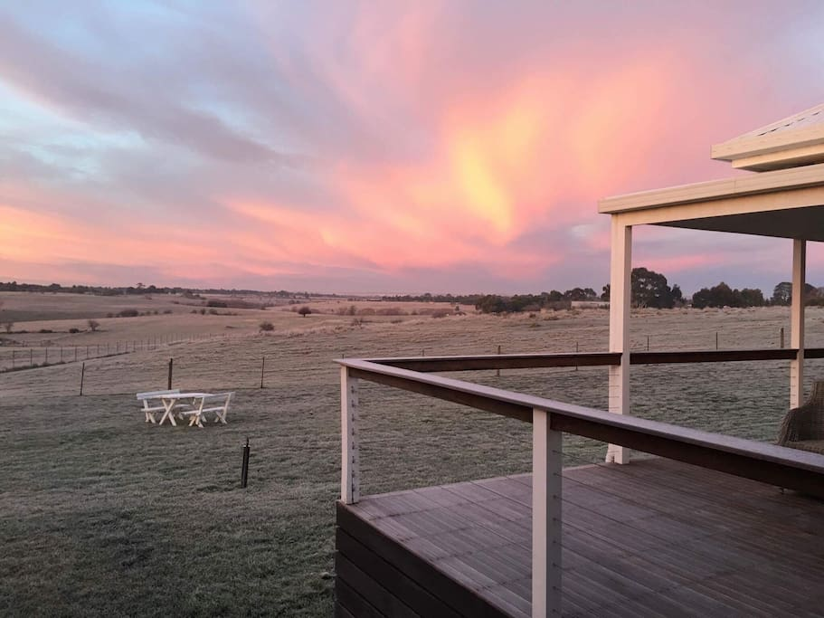Not a sunset, a sunrise.....and a frost