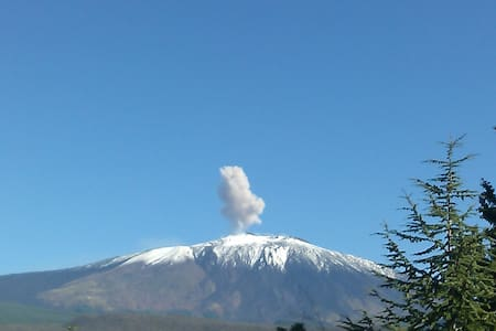 Panoramica mansarda con vista sull'Etna, parKing - Bronte - Wohnung