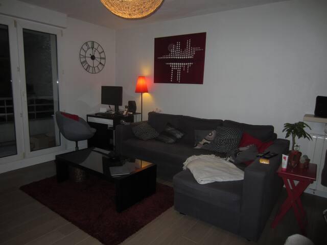 Chambre privée avec jardin privatif - Strasbourg - Apartemen