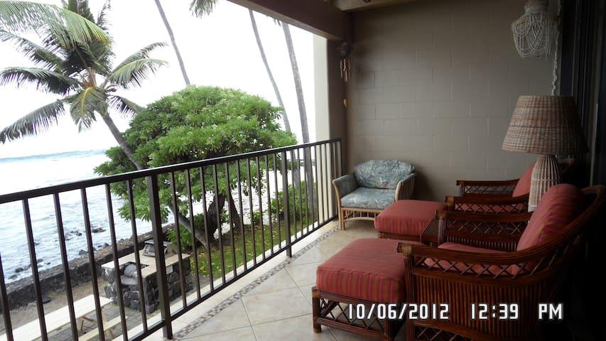 Direct Ocean Front Condo - Kailua-Kona - Pis