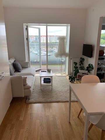 Lækker lys lille lejlighed på Århus Ø
