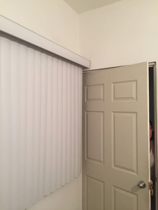 Blinds and room door