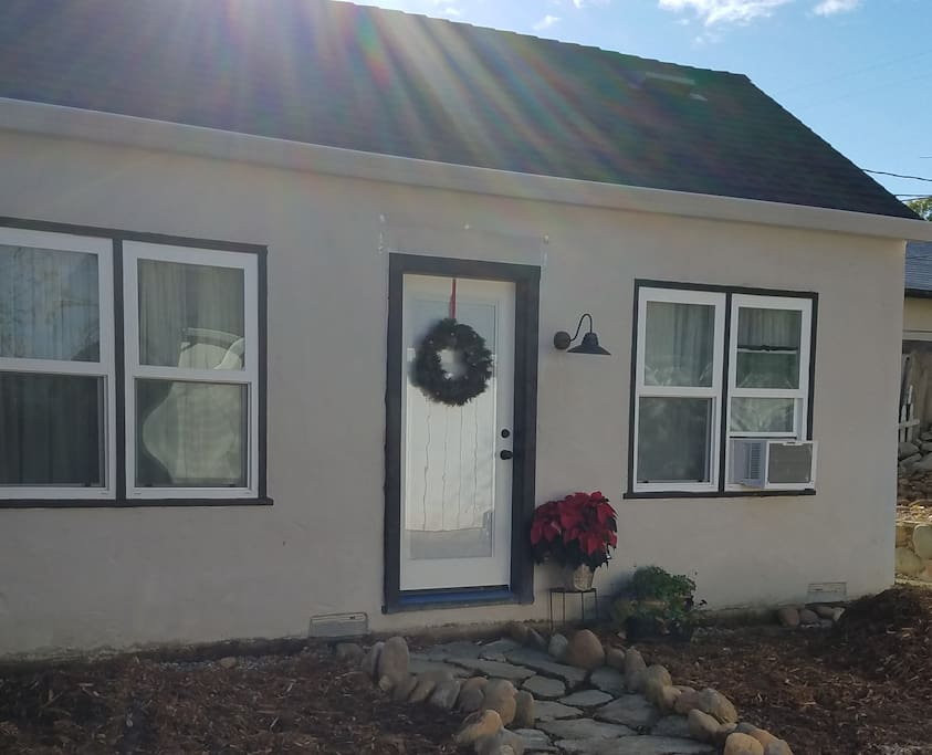 This cozy little private suite boasts its own entrance, kitchenette, bathroom, sleeping area and living room area, and is a perfect home away from home for the holidays. You'll be greeted with  homemade coffee cake and holiday treats to enjoy..