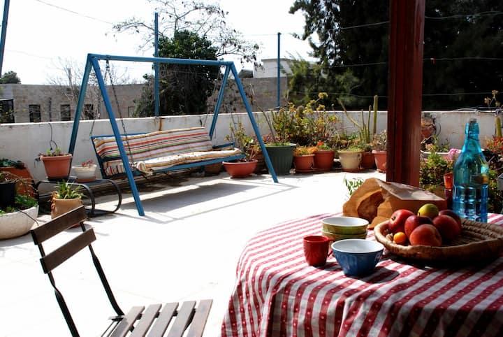 A Rooftop in Baka, Jerusalem (2 bedrooms/2 baths)
