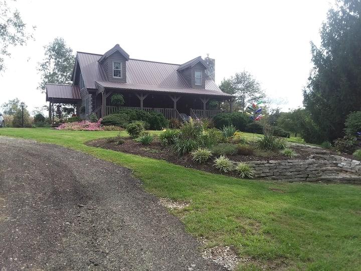 Quaint Country Log Home