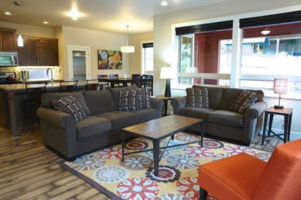Open floor plan perfect for friends and family