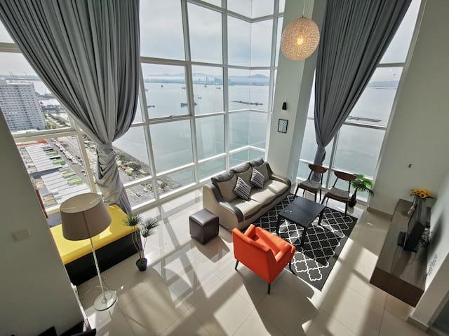 SH Skyscraper Seaview@Maritime | 摩天大楼日出全海景套房