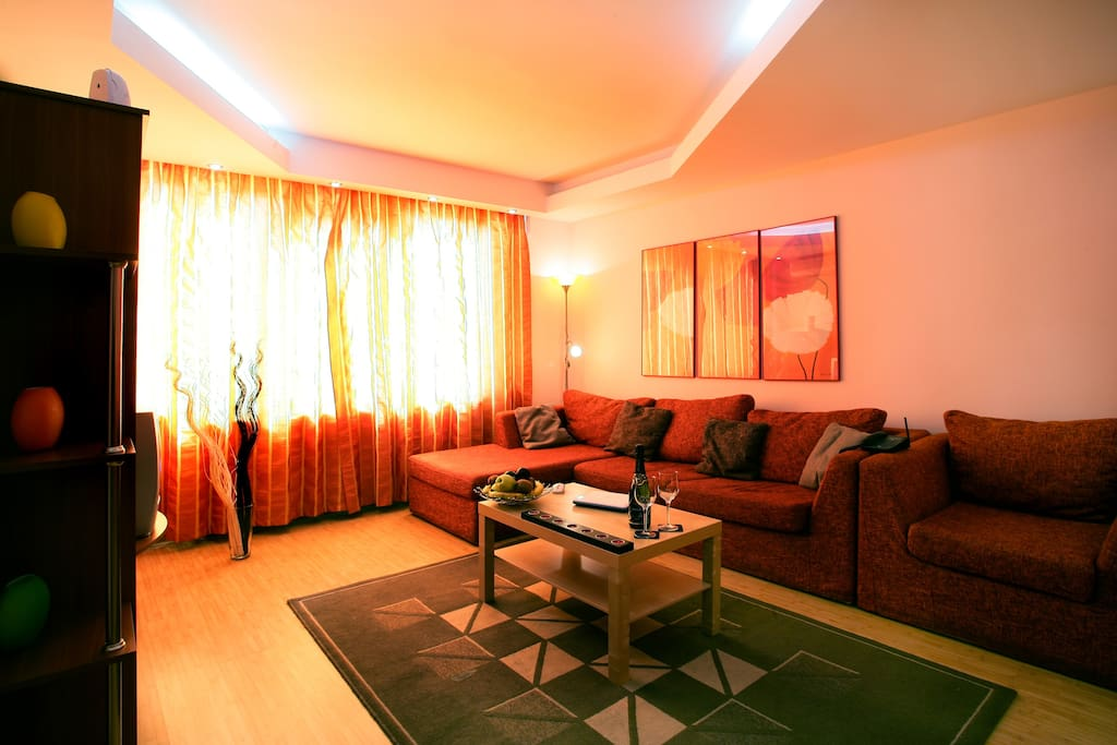 Twin 2 - One Bedroom Apartment - Cismigiu Gardens - Living Room