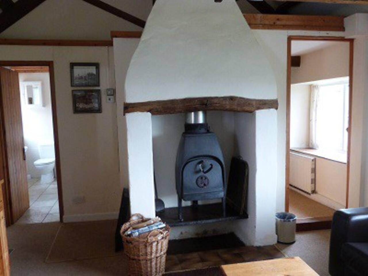 Original log burners (+ central heating)