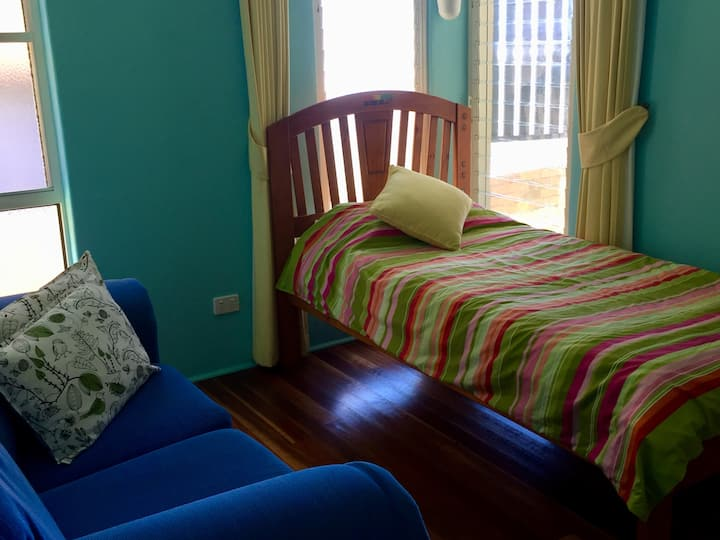 A Single bedroom at Angourie House with Views.