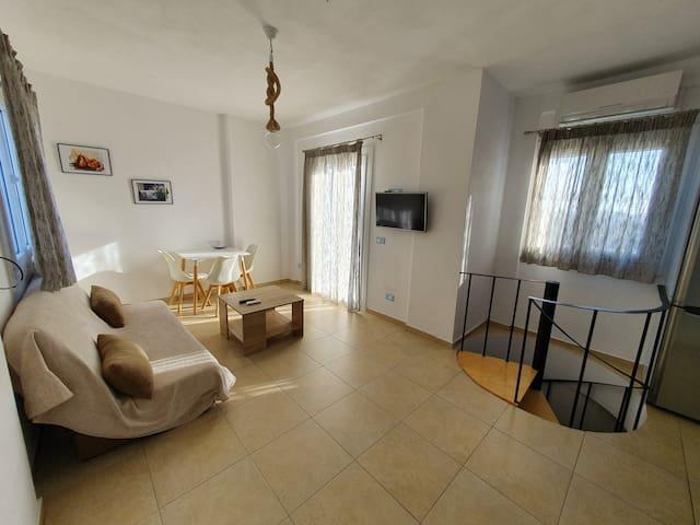 Spacious and elegant sea view apartment in Mykonos