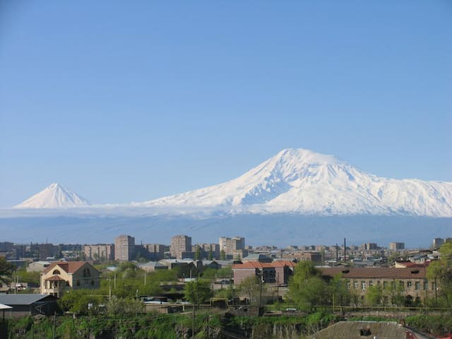 Sis Masis view of Mountain Ararat from city of Yerevan