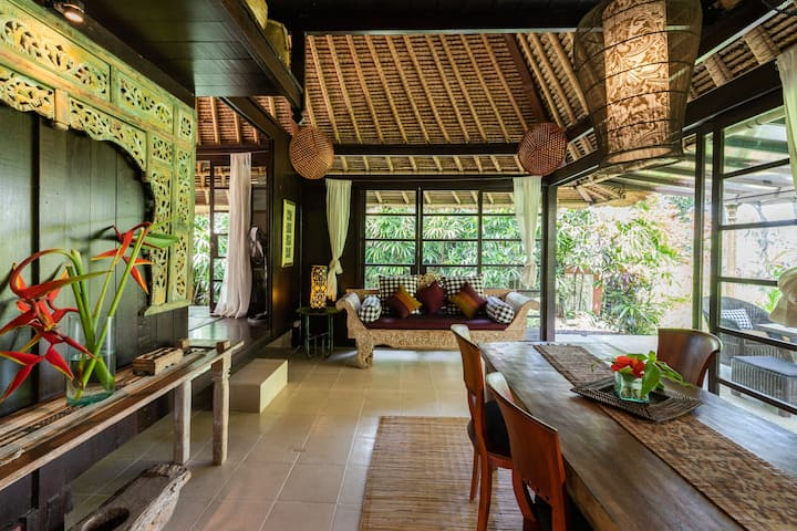 Chill out along the rice fields