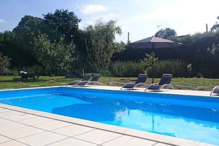 Cosy cottage with shared heated swimming pool - Vesly