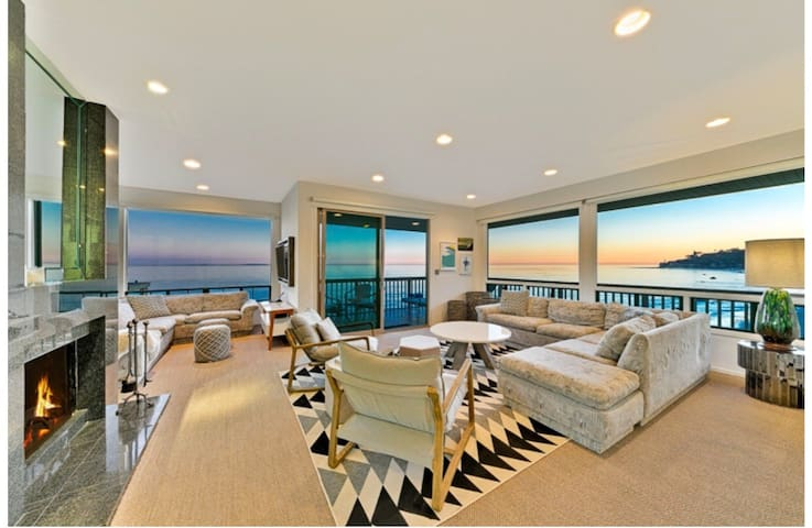 Waterfront Malibu beach house