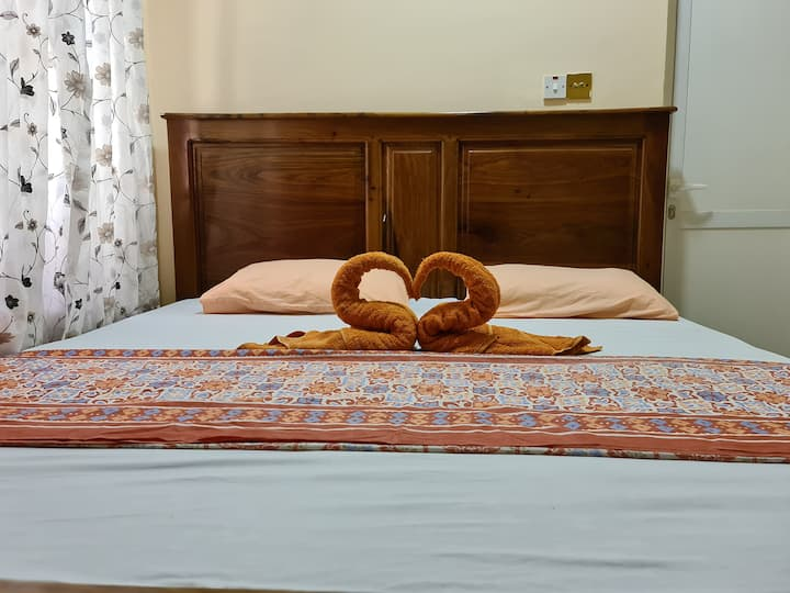 Bedroom with private bathroom new apartmentMalindi