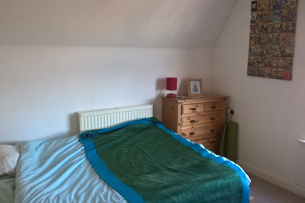 Light, spacious bedroom, with wardrobe for your use