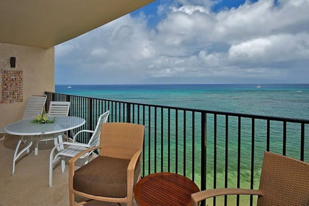 private lanai with an amazing view