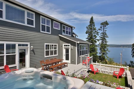 New farmhouse-style retreat with views of Puget Sound. 3 bed, 3 bath. (246) - 246
