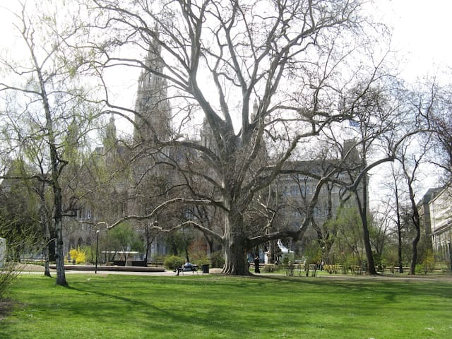 Rathauspark - one of the numerous parks in very close proximity to the apartment!