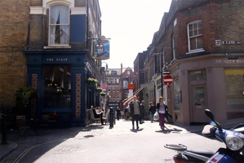 Flask Walk is one of the best locations in Hampstead