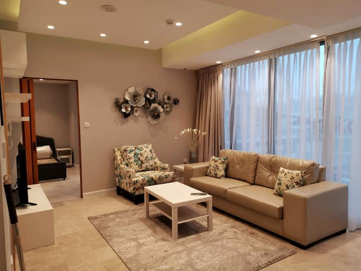 Newly furnished  1 BR apartment in Damac Tower