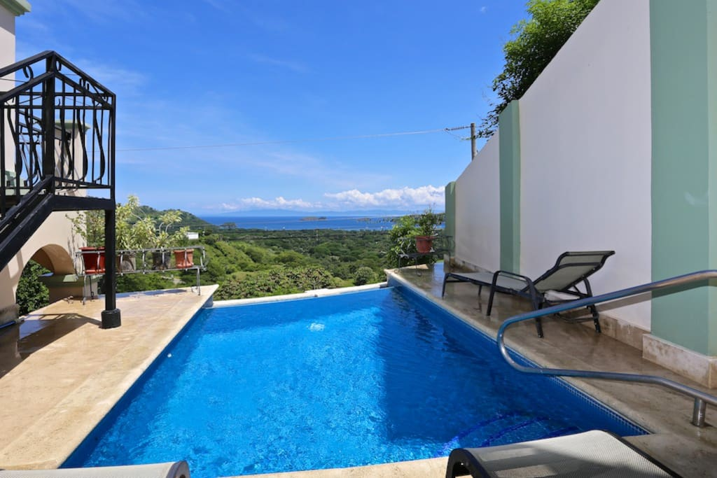 Pool with a view of Playas del Coco