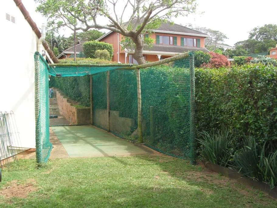 Cricket pitch for the boys to practice cricket