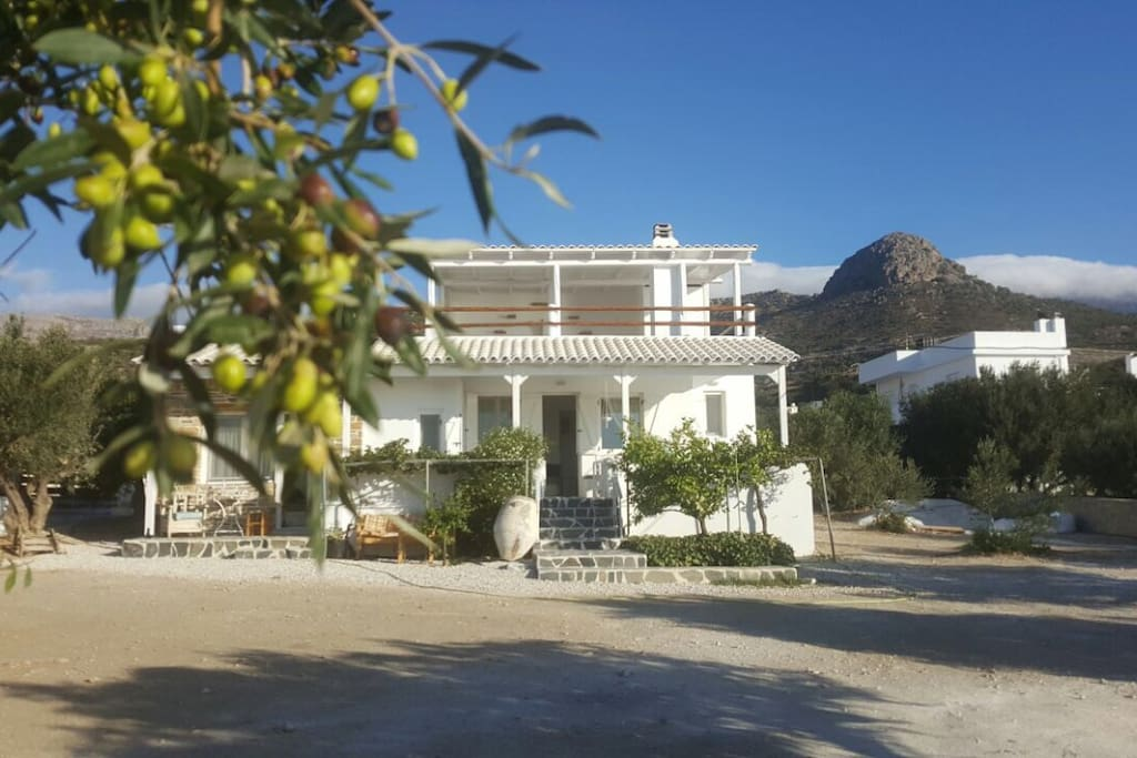 How the house looks from the stairs to the sea
