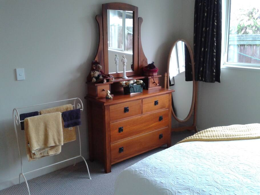 Dresser and full length mirror