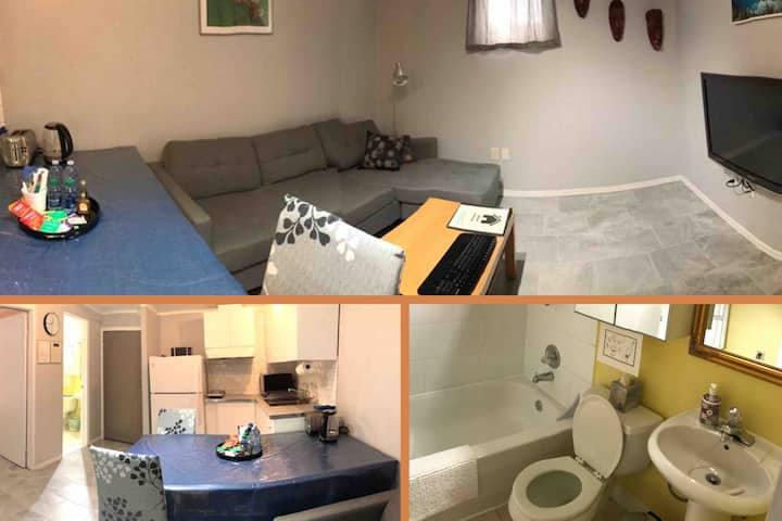 Private 1BDR Apartment Seperate Ent. 20min Airport