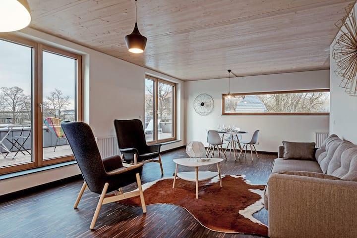 Penthouse 207 80 m2 avec deux chambres et terrasse