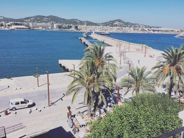 Stunning loft seaview in Ibiza town