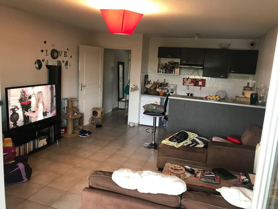 Appartement lumineux avec une chambre s par e apartments for Chambre separee
