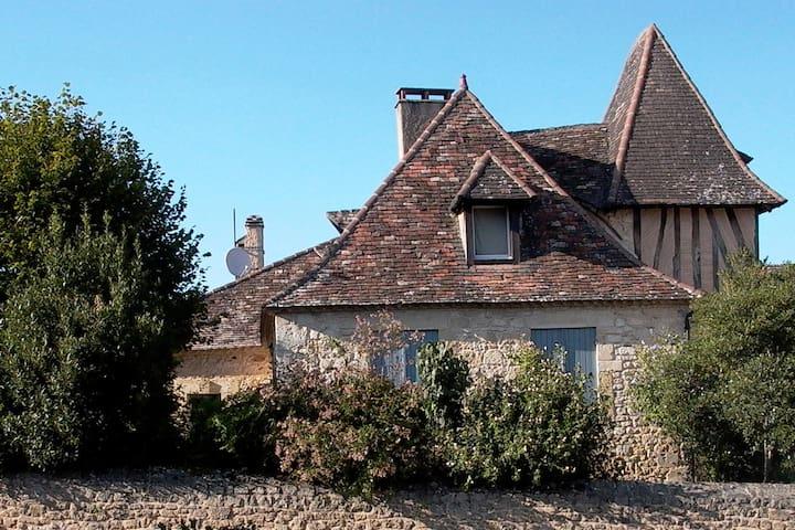 Le Prévoté de Lanquais - cottage en zwemvijver - Lanquais - Cabaña