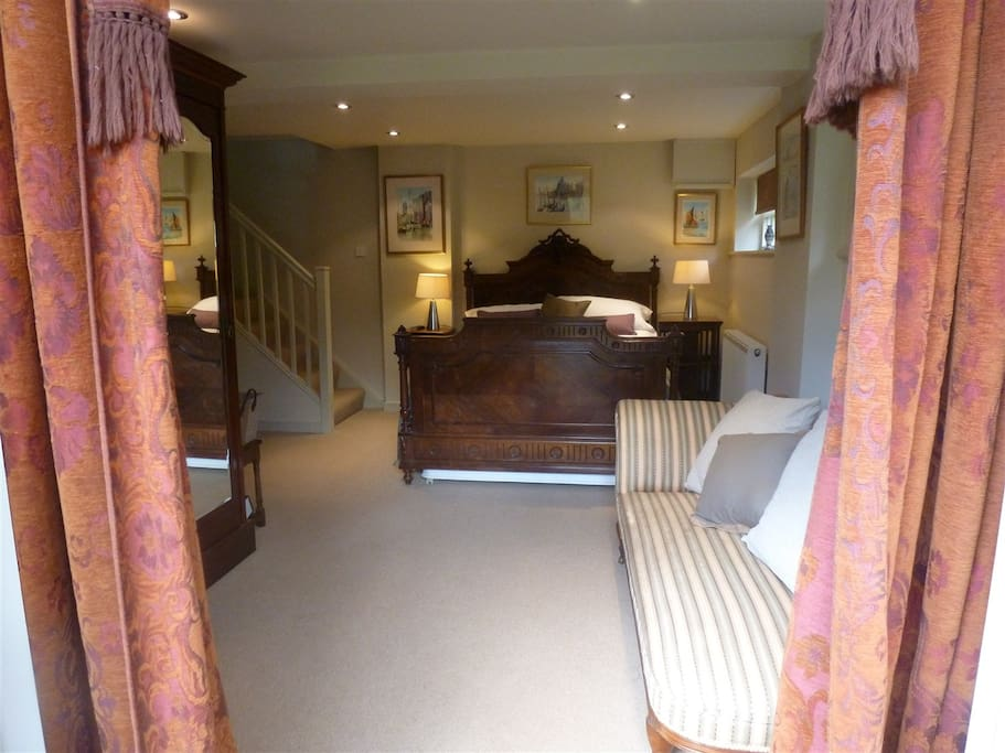 The lounge area & double bed