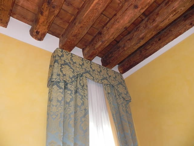 Beautiful wooden beams which had lain hidden under a ceiling prior to restoration