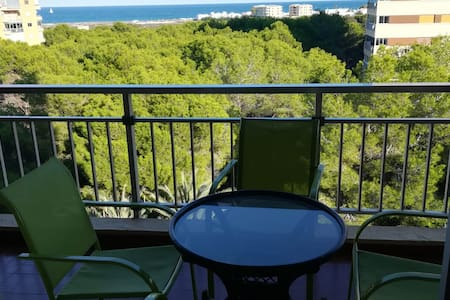 Apartamento con vistas al mar Mediterraneo.