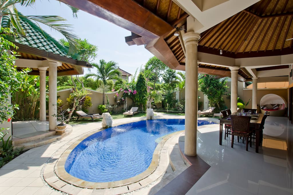 The Garden and Pool. No pool fence but one can be fitted