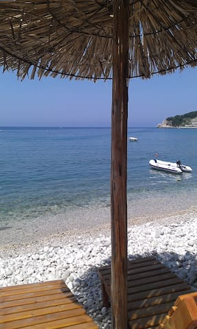 C вид на море вилла, 200м  от пляжа - Kruce - Villa