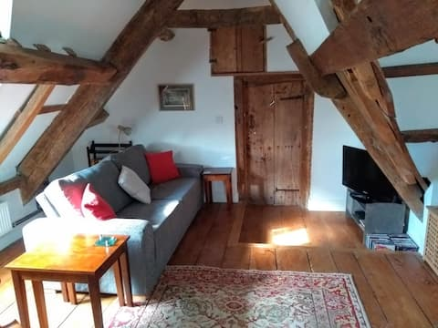 Spacious attic suite in listed town house