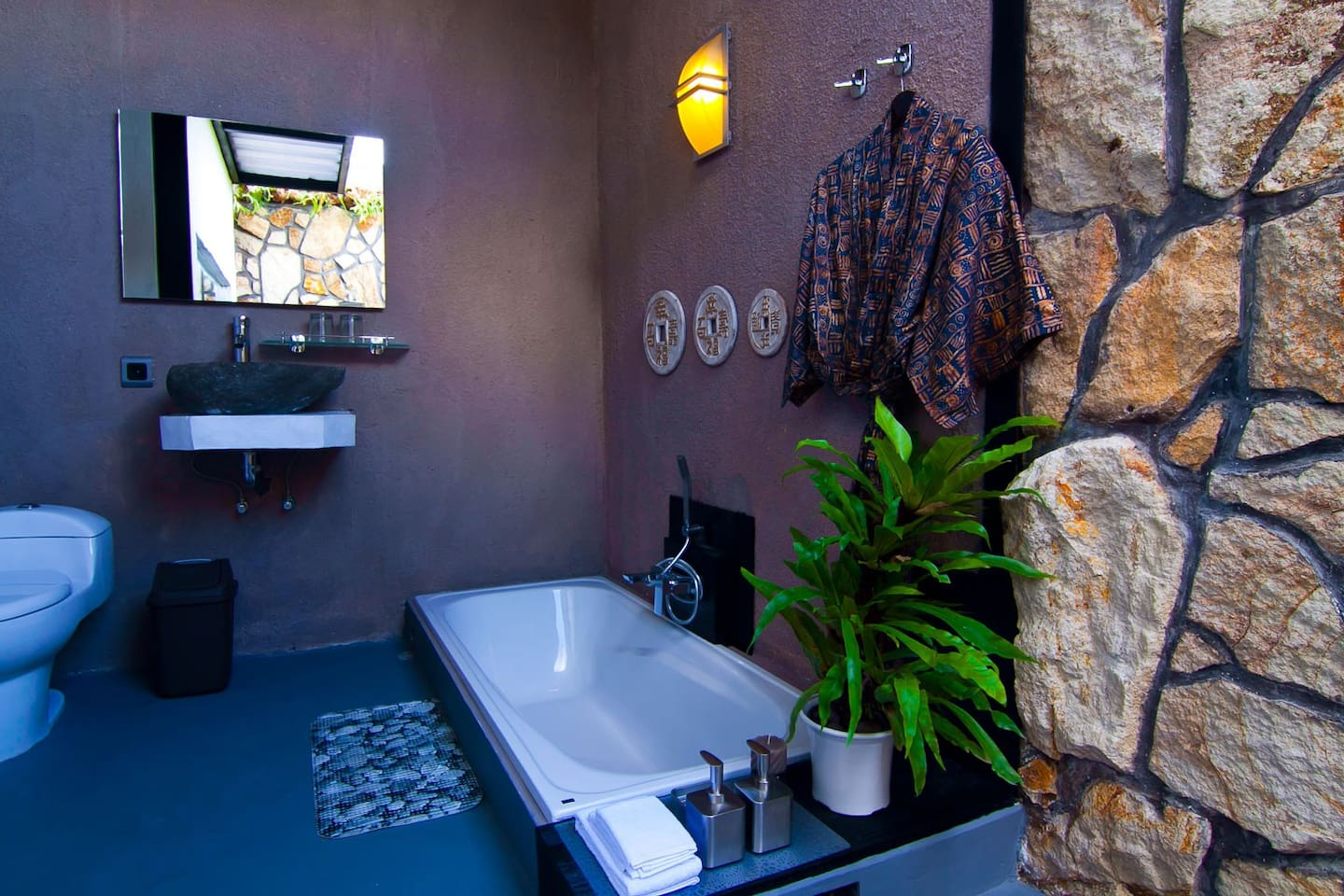 Bath room and shower
